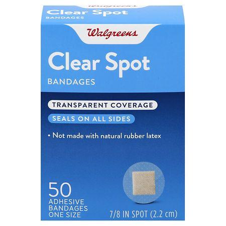Walgreens Clear Spot Bandages - 50 ea