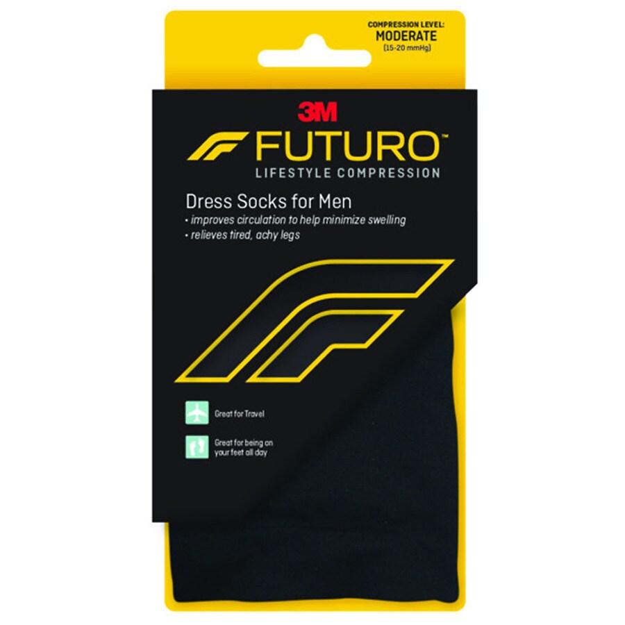 068f71889fe0 FUTURO Dress Socks for Men, Moderate Black, Black | Walgreens