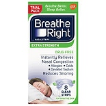 Breathe Right Nasal Strips to Stop Snoring, Drug-Free, Extra Clear