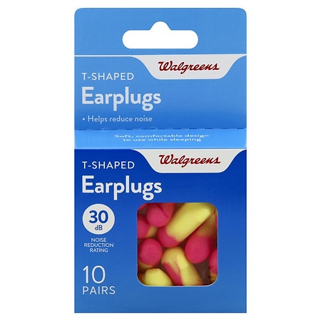 Walgreens T-Shaped Earplugs - 10 ea