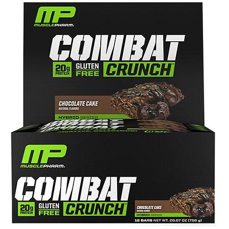 MusclePharm Combat Crunch Bars Chocolate Cake - 12 ea