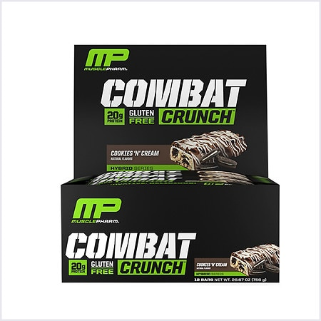 MusclePharm Combat Crunch Bars - 2.22 oz. x 12 pack