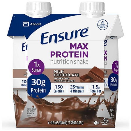 Ensure Max Protein Nutrition Shake Ready-To-Drink Milk Chocolate - 11 fl oz x 4 pack