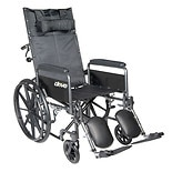 Drive Medical Silver Sport Reclining Wheelchair Silver Vein
