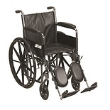 Drive Medical Silver Sport 2 Wheelchair Black