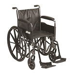 Drive Medical Silver Sport 2 Wheelchair, Detachable Full Arms