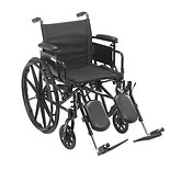 Drive Medical Cruiser X4 Dual Axle Wheelchair with Adjustable Detachable Desk Arms 16 inch Seat Silver Vein