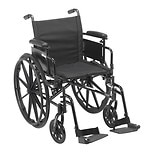 Drive Medical Cruiser X4 Dual Axle Wheelchair with Adjustable Desk Arms, Swing Away Footrests 20 inch Seat Silver Vein