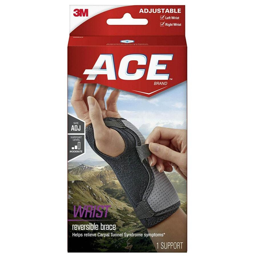 Ace Reversible Splint Wrist Brace Adjustable Gray Walgreens