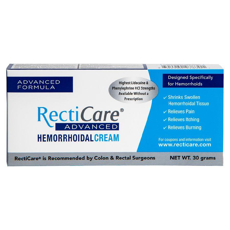 RectiCare Advanced Hemorrhoidal Cream | Walgreens