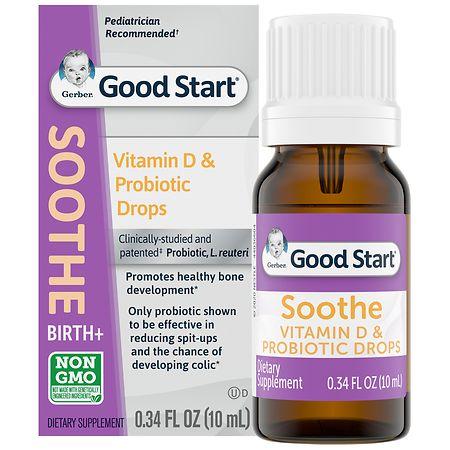 Gerber Soothe Vitamin D & Probiotic Drops - 0.34 fl oz