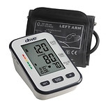 Drive Medical Automatic Deluxe Blood Pressure Monitor, Upper Arm White