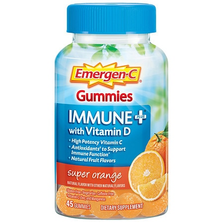 Emergen-C Immune System Support with Vitamin C Dietary Supplement Super Orange - 45 ea