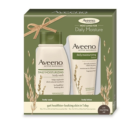 Aveeno Daily Moisturizing Dry Skin Set, Body Wash & Lotion, Set of 2 - 1 ea