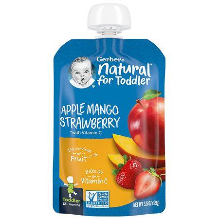Gerber Toddler Pouch Apple Mango Strawberry - 3.5 oz.