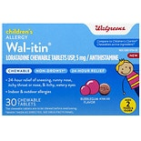 Walgreens Wal-itin Children's 24 Hour Allergy Relief Chewable Tablets Bubblegum