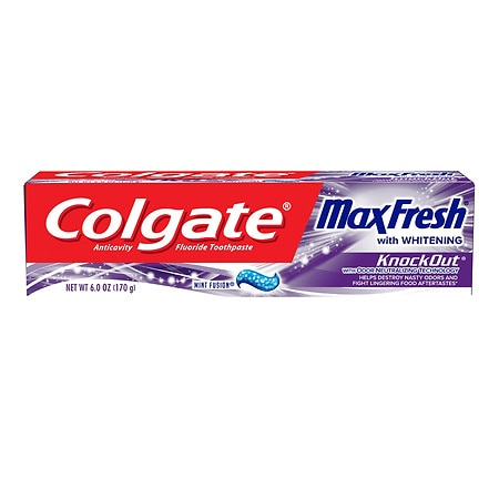 Image of Colgate MaxFresh Knockout Toothpaste with Breath Strips - 6 oz.
