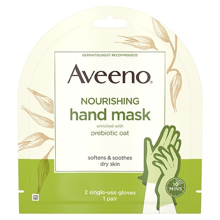 Aveeno Moisturizing Hand Therapy Mask With Oat - 2 ea