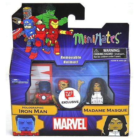 Marvel Minimates Holographic Tony Stark & Madame Masque - 1 ea
