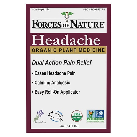 Forces of Nature Headache Pain Management Rollerball - 0.14 oz.