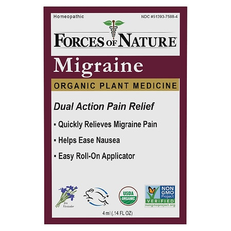Forces of Nature Migraine Pain Management Rollerball - 0.14 oz.