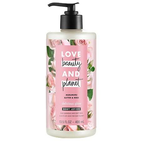 Love, Beauty & Planet Murumuru Butter & Rose Body Lotion Delicious Glow - 13.5 fl oz