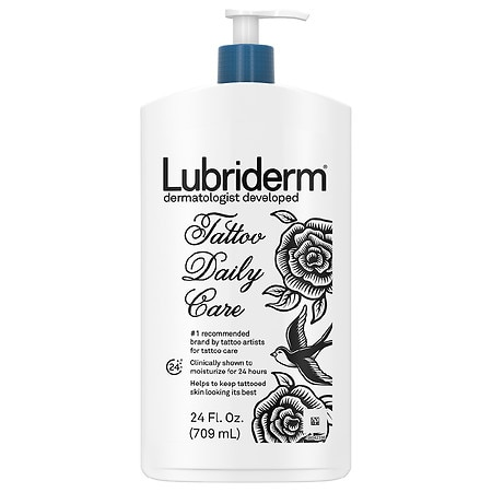 Lubriderm Tattoo Daily Care Lotion, Water-Based & Unscented - 24 fl oz