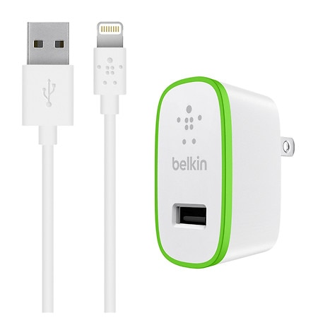 Belkin Home Charger with Lightning to USB ChargeSync Cable - 1 ea