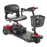 Drive Medical Scout Compact Travel Power Scooter 16.5 Inch Seat Red