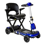 Drive Medical ZooMe Auto-Flex Folding Travel Scooter Blue