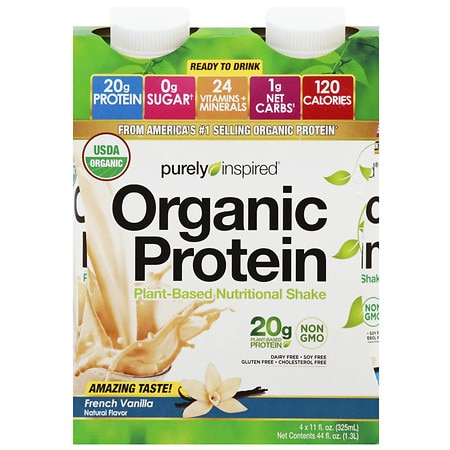 Purely Inspired Organic Protein Shakes French Vanilla Shake - 11 oz. x 4 pack