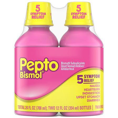 Pepto-Bismol Upset Stomach Reliever Liquid Original - 12 fl oz x 2 pack