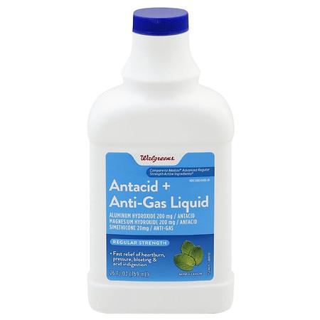 Walgreens Antacid + Anti-Gas Liquid Mint - 26 fl oz