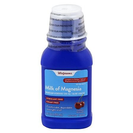 Walgreens Milk of Magnesia Cherry - 12 fl oz