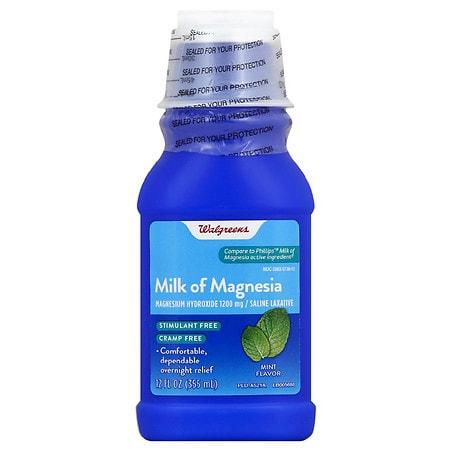 Walgreens Milk of Magnesia Mint - 12 fl oz