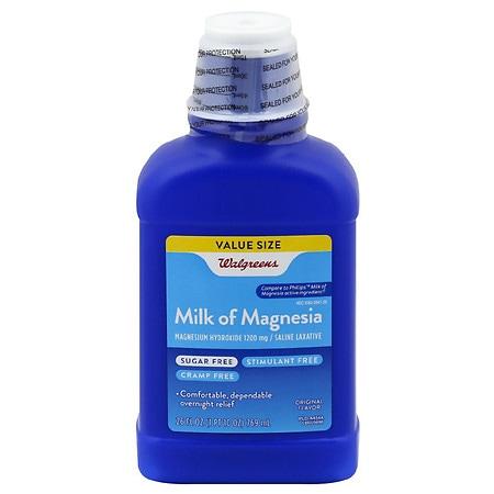 Walgreens Milk of Magnesia, Sugar Free Original - 26 fl oz