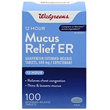 Walgreens Mucus Relief Extended-Release Tablets 600 mg