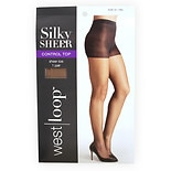 West Loop Control Top Pantyhose Size D Tan