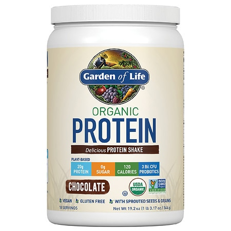 Garden of Life Organic Protein Shake Chocolate - 19.2 OZ