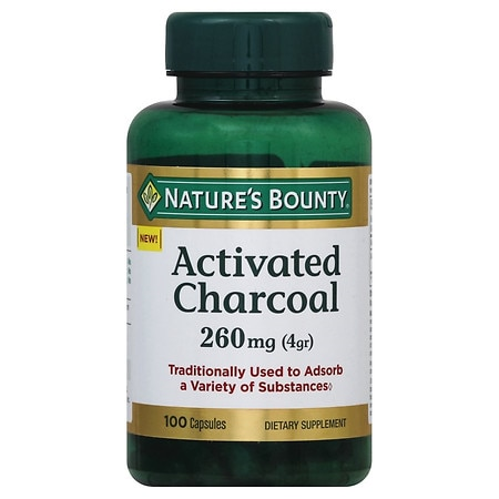Nature's Bounty Activated Charcoal 260 mg Capsules - 100 ea