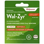 Walgreens Wal-Zyr 24 Hour Allergy Liquid Capsules