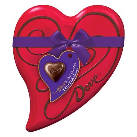 Dove Valentine's Dark Chocolate Candy Heart Gift Box - 6.5 oz.
