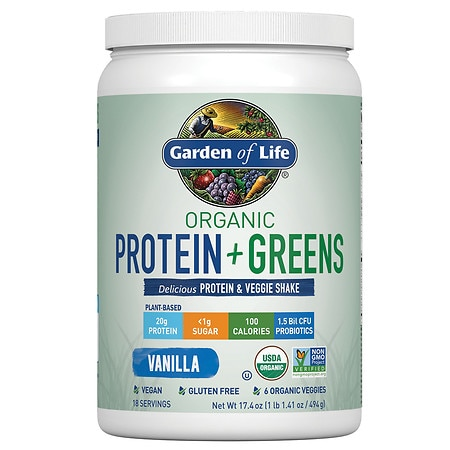 Garden of Life Organic Protein + Greens - 19.4 oz.