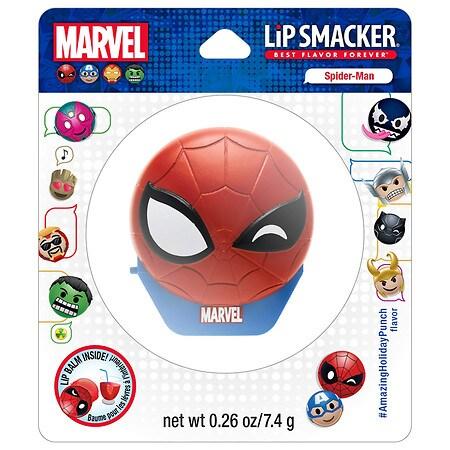 Bonne Bell Lip Smacker Holiday Emoji Balm - Spiderman Amazing Holiday Punch - 0.26 oz.