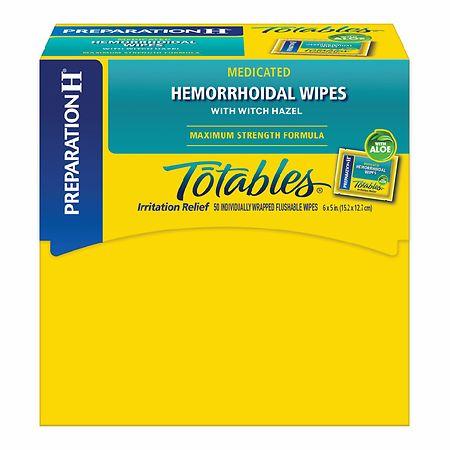 Preparation H Totable Medicated Hemorrhoid Wipes - 50 ea
