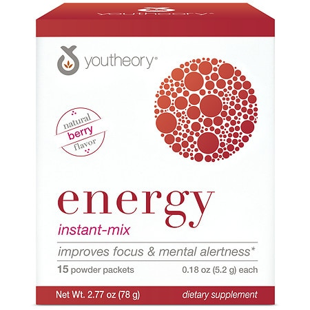 Youtheory Energy Instant Mix Berry - 15 ea