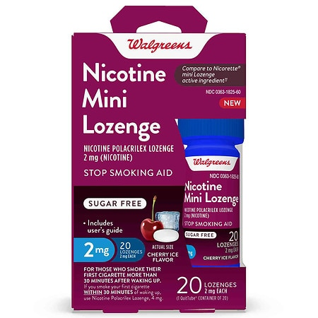 Walgreens Nicotine 2MG Mini-Lozenges Cherry Ice - 20 ea