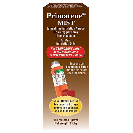 Primatene Mist Epinephrine Inhalation Aerosol 160 Metered Sprays - 1 ea