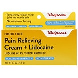 Walgreens Pain Relief Cream with Lidocaine