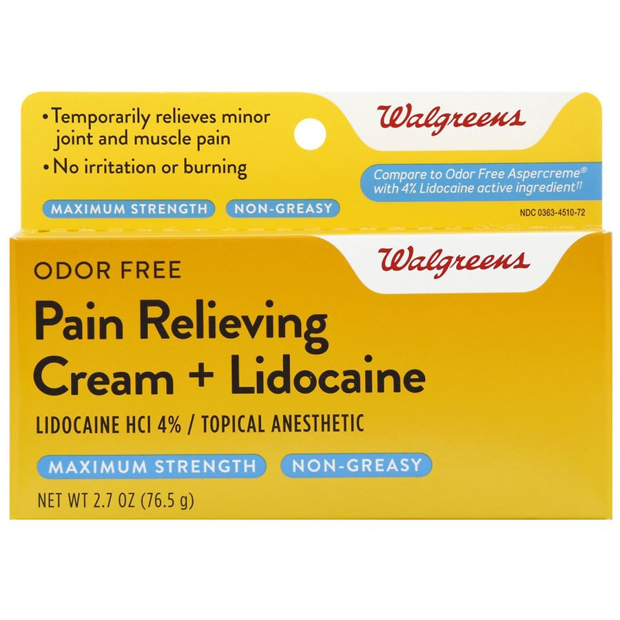 Walgreens Pain Relieving Cream + Lidocaine